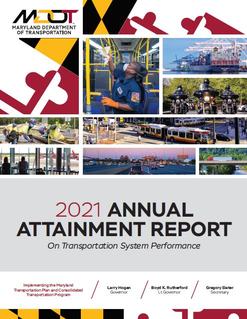 The cover of the 2040 Maryland Transportation Plan